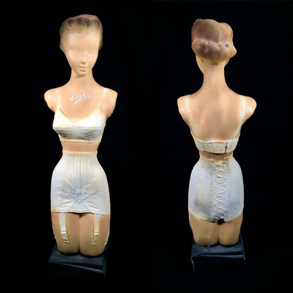 Vintage 1930's French Advertising Mannequin Clothing Shop Display Bust / Large